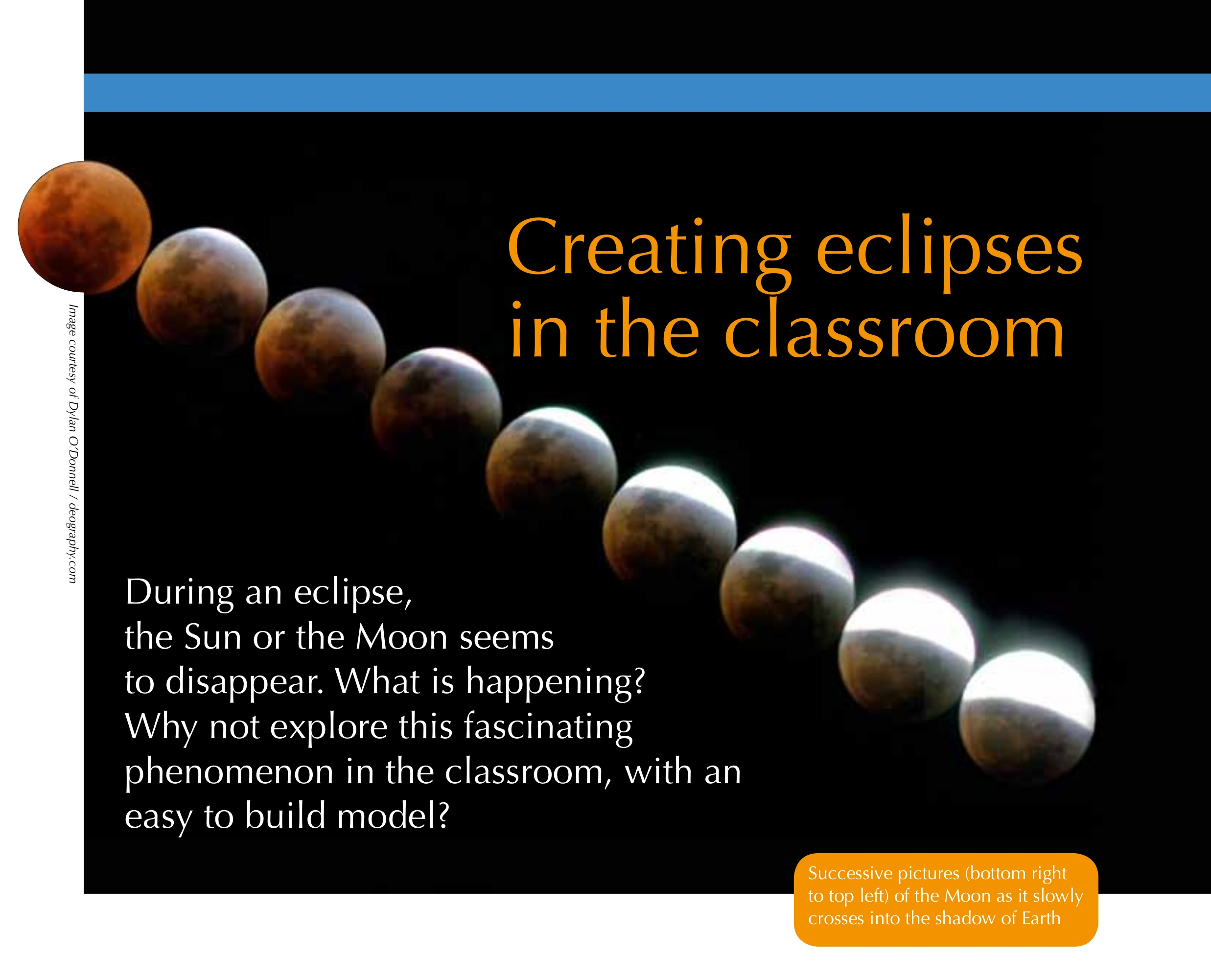 Creating Eclipses in the Classroom Activities – Solar and Lunar Eclipse Worksheet