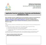 Universe in a Box Localisation, Production and Distribution Proposal Template