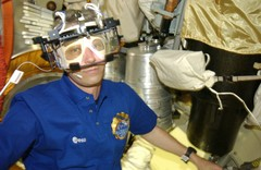 Astronaut Wearing The Eye Tracking Device