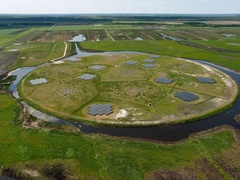Low Frequency Array (LOFAR) Telescopes Core in the Netherlands
