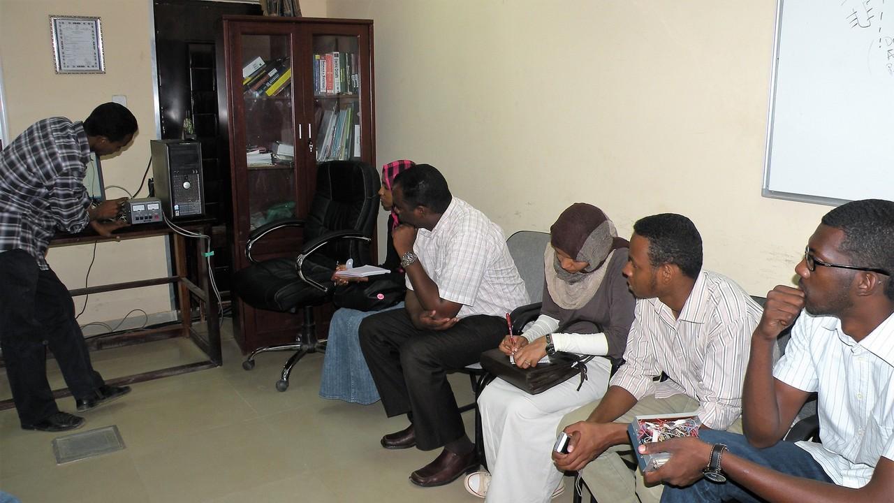 Radio station at Khartoum University, Sudan, built by UNAWE NC Yasir and his colleagues