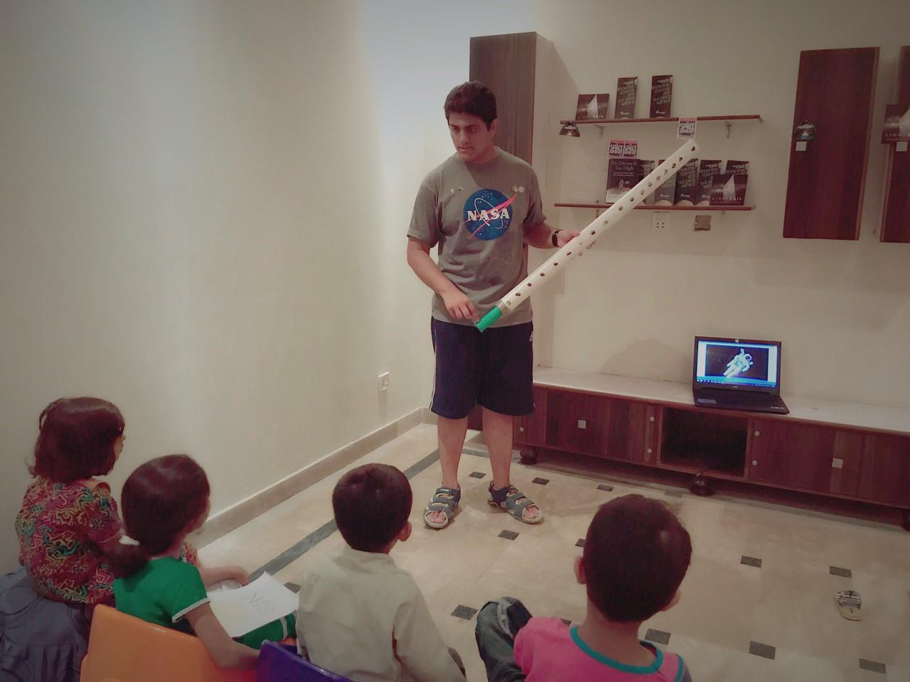 Saif's selfmade telescope