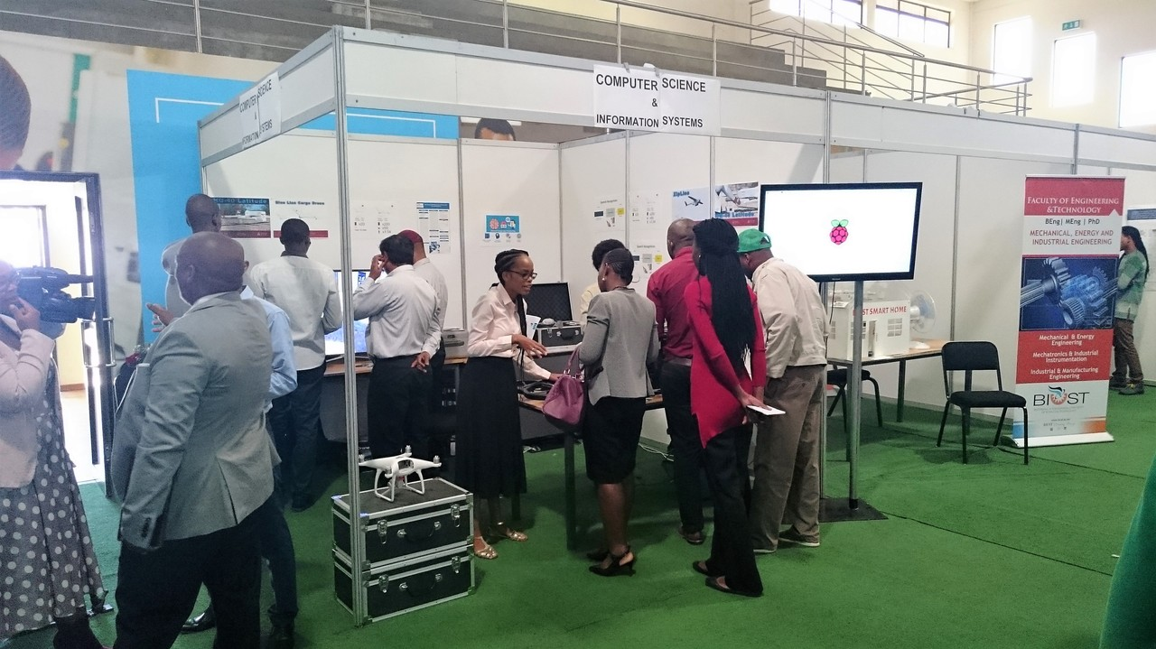 One of many exhibition stands at BIUST STEM Festival 2018