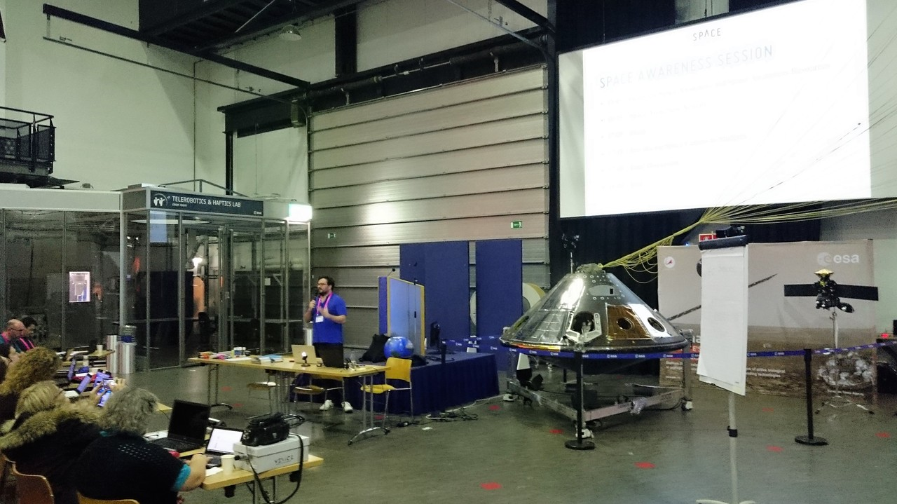 Space Awareness Teacher Training Workshop at ESTEC, November 2017.