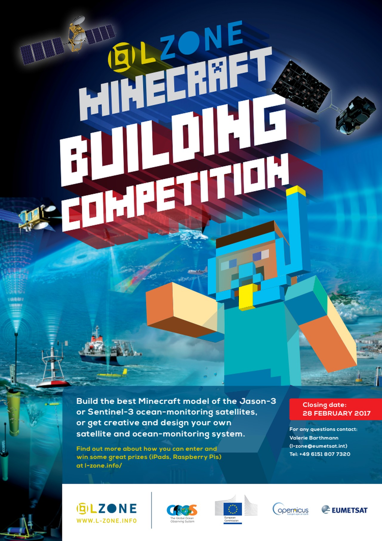 Poster design contest 2017 - L Zone Minecraft Competition Poster
