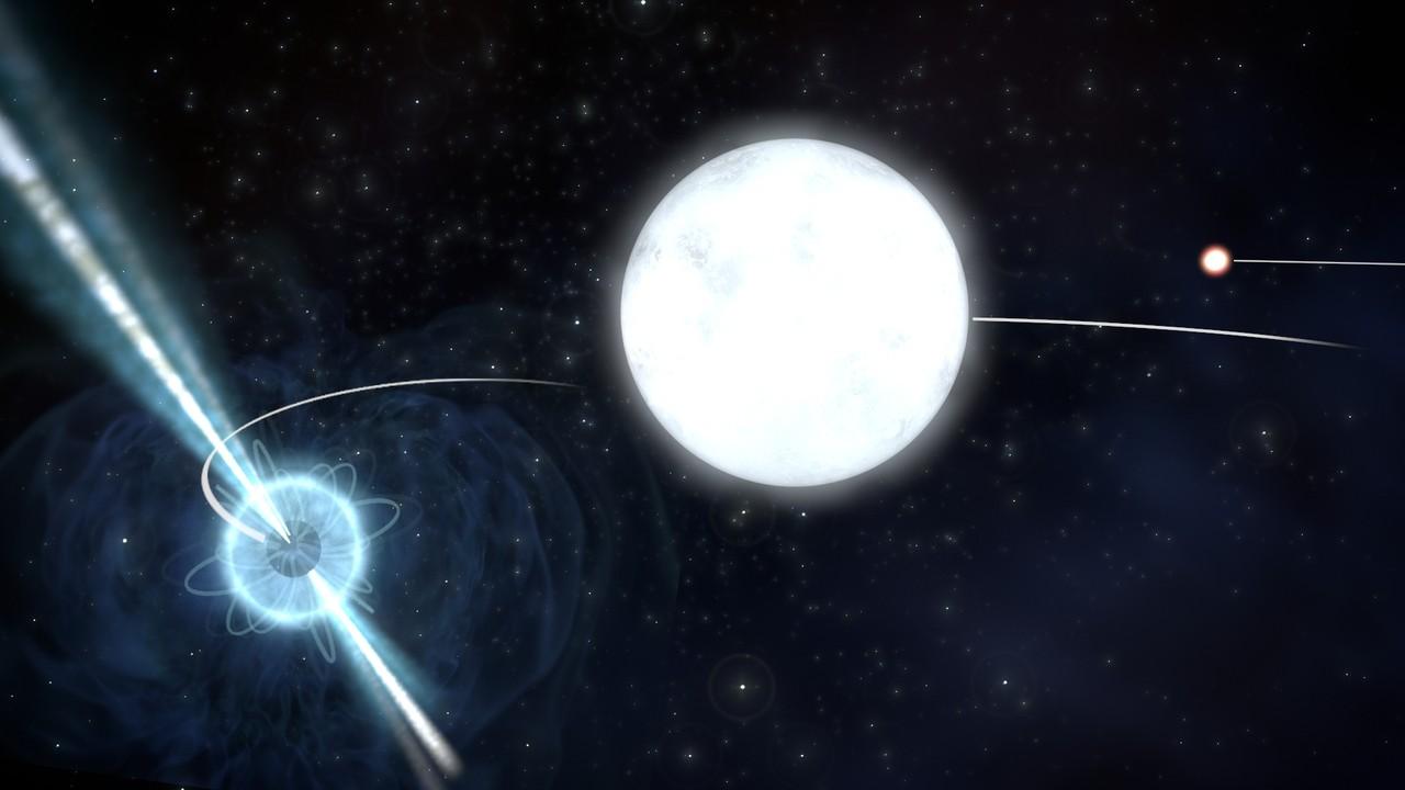 Resultado de imagen de Una enana blanca atrae a una estrella vecina