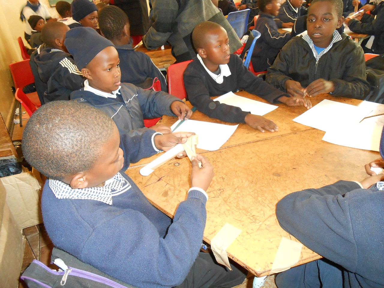Learners at St Mary's working in groups to make a rocket ...