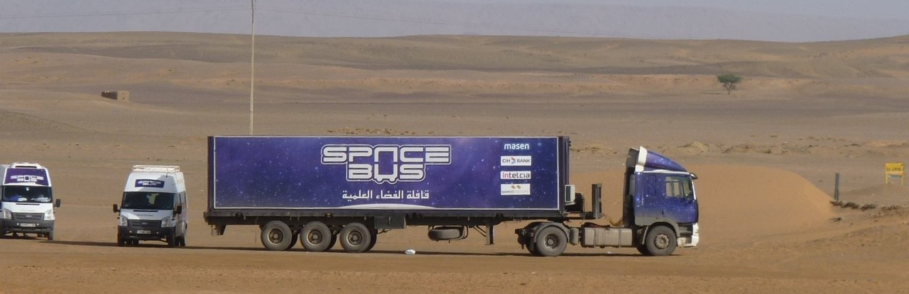 The caravan of SpaceBus Morocco