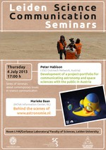 Leiden Science Communication Seminar Poster - July 2012