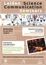 Science Communication Seminar Poster - January 2013