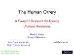 The Human Orrery- A Powerful Resource for Raising Universe Awareness
