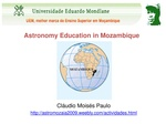 Astronomy Education in Mozambique