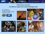 Astronomy curricula for different ages and cultural backgrounds