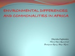 Environmental Differences and Commonalities in Africa